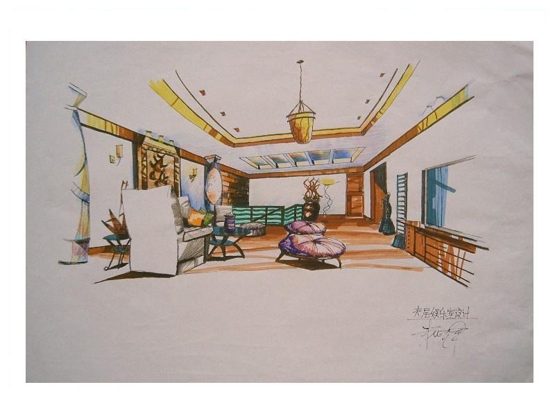 室内手绘效果图的步骤|五邑地区设计研修基地