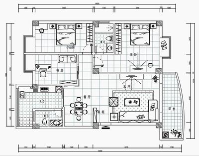 二,建筑cad:              绘图方法,建筑平面图,水路图,电路图