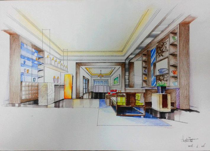 2015年手绘作品-室内手绘效果图
