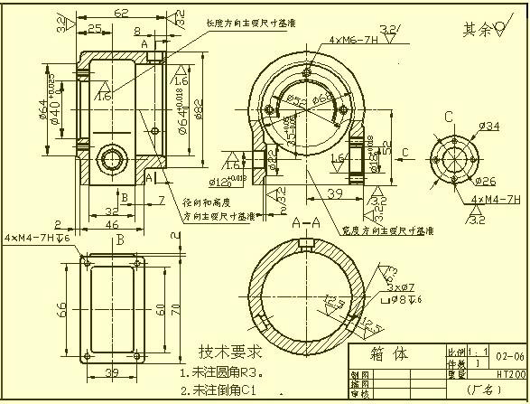 机械制图时什么时候用局部视图?用局部视图是不是就不